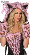 Pink Frisky Leopard Hood