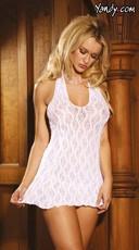 Plus Size Lace Halter Top Mini Dress