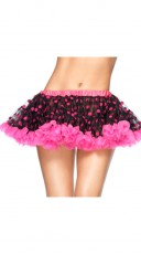 Polka Dot Chiffon Mini Petticoat
