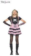 Juniors Punk Rock Princess Costume
