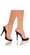 5 Inch Clear Mule Slide with Black Base