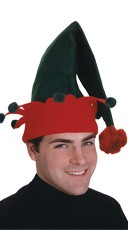 Green and Red Elf Hat