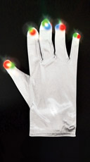 White LED Light Up Gloves