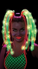 Green Light Up Wig