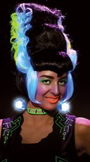 Black Light Bride of Frankenstein Wig