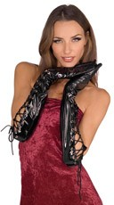 Long Lace Up Gloves