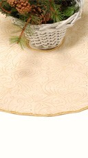 """31"""" Ivory And Gold Tree Skirt"""