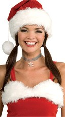 Silver Choker With Snowflake