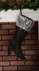 Black Boot Stocking