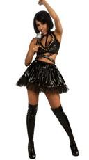 Edgy Popstar Black Vinyl Costume