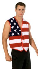Men's Patriotic Flag Vest