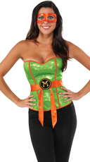 Sexy TMNT Michelangelo Corset Costume