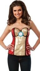 Sequin Power Iron Man Bustier