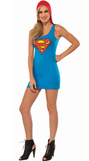 Hooded Supergirl Costume Dress