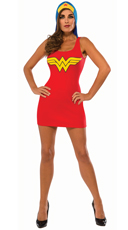 Hooded Wonder Woman Costume Dress