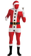 Men's Santa Claus Morphsuit Costume
