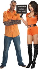 Locked Up Inmate Couples Costume
