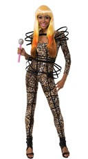 Nicki Leopard Catsuit Costume