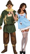 Scarecrow And Girl Couples Costume