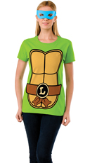 Leonardo Teenage Mutant Ninja Turtle T-Shirt Costume