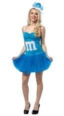 Blue M&M Party Dress Costume
