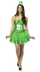 Green M&M Party Dress Costume
