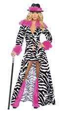 Women's Zebra Pimp Costume
