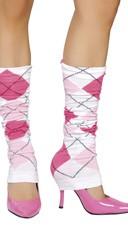 Pink Argyle Leg Warmer