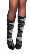 Grey Argyle Stockings