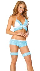 Polka Dot Ruffled Halter and Short Set