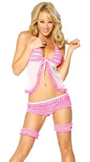 Ruffled Polka Dot Babydoll Set