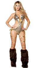 Metallic Leopard Side Tie Monokini