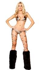 Sexy Golden Leopard Bikini Set