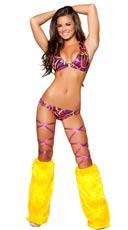 Hot Pink Swirl Bikini Short Set