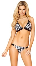 Zig Zag Halter and Bikini Bottom