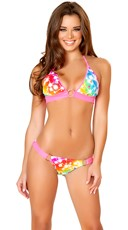 Rainbow Cosmos Halter and Bikini Bottom