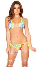 Rainbow Cosmos String Bikini