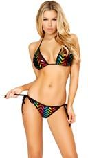 Rainbow Zig Zag String Bikini