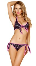Black and Pink Pinup Bikini