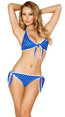 Blue and White Pinup Bikini