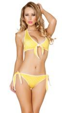 Yellow Polka Dot Pinup Bikini