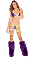 Metallic Bikini and Leg Wrap Set