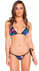 Electric Tie Side Bikini Set