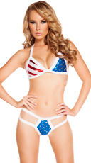 USA Tri Top and Strappy Bottom