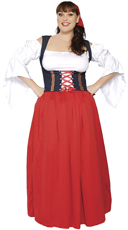 Plus Size Swiss Miss Costume