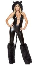 Sexy Black Catsuit Costume