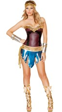 Deluxe Vintage Warrior Woman Costume