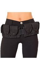 Black Costume Belt With Pouches