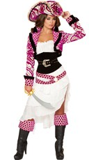 Deluxe Pink Pirate Costume