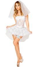 White Lace Bride Costume